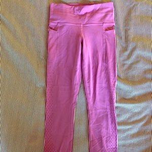 Athleta pink cutout leggings